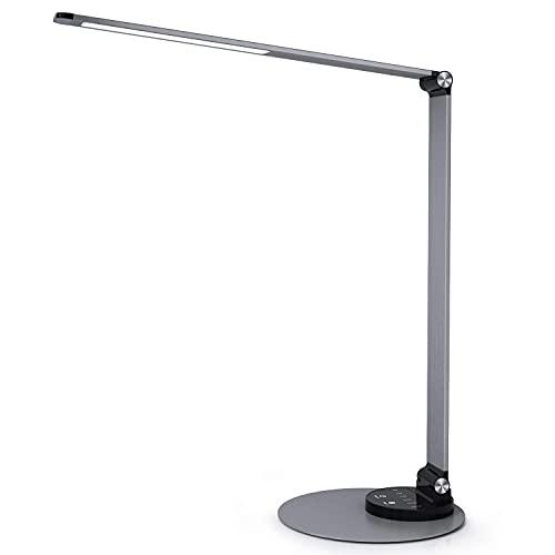 Schreibtischlampe LED Metall Tischlampe, Tageslichtlampe mit 6...
