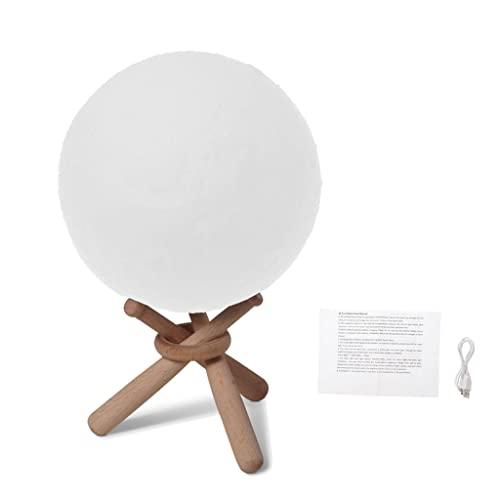 HANBOLI Nachtlicht, Personalisierte 3D Mondlampe Touch Baby...