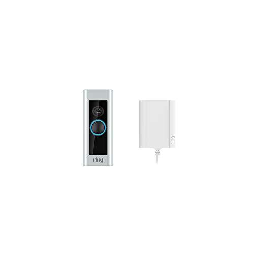 Ring Video Doorbell Pro mit Netzteil von Amazon, 1080p HD-Video, Gegensprechfunktion,...