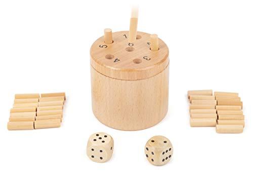 Small Foot 11365 Würfelspiel 6 Raus, Logikspiel für 2-6...