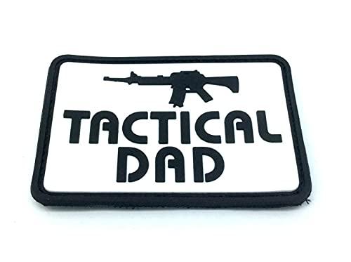 Tactical Dad Morale Patch PVC Airsoft Paintball Klett Emblem...