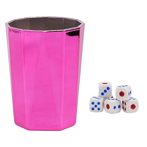 EXCEART Würfelbecher Würfel Shaker Mini Shaker Tasse Kunststoff...