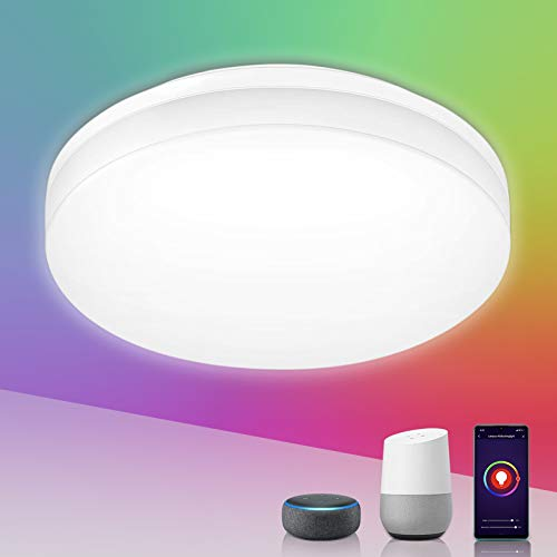LE Smart Deckenlampe, LED Deckenleuchte Wifi 15W 1250LM 22cm...