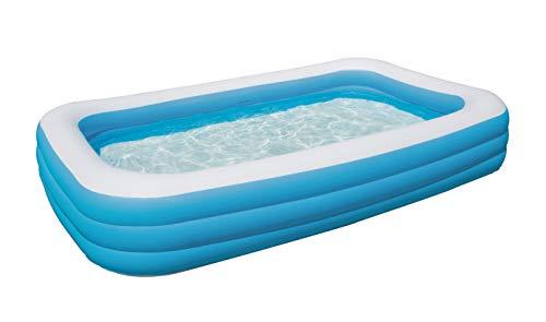 Bestway Family Pool Deluxe, Pool rechteckig für Kinder, leicht...