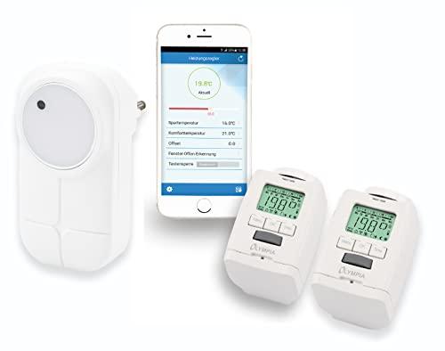 2 Stück Heizkörperthermostat Smart Home System mit Gateway und...