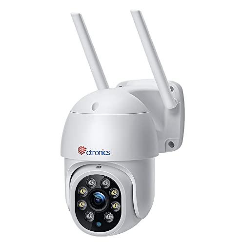 Ctronics PTZ Überwachungskamera Aussen,1080P Kabellose IP WLAN...