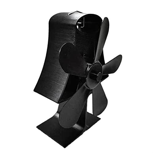 QXJTX Kaminbälge 5 Klingen Wärmebetriebene Herd Fan Aluminium...