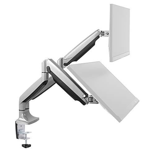 RICOO Monitor-Ständer Tisch-Halterung 2 Monitore Schwenkbar...