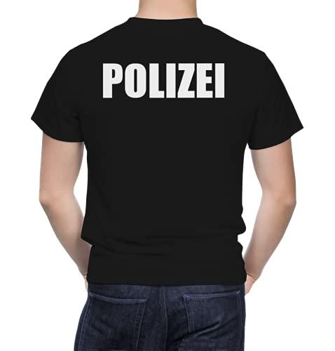 Polizei T-Shirt Herren - Tshirt für Polizei - 100% Baumwolle...