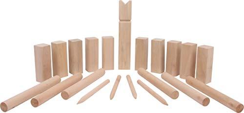 Small Foot 4916 Wurfspiel Wikingerspiel Kubb Familiengröße, 100% Naturholz mit...