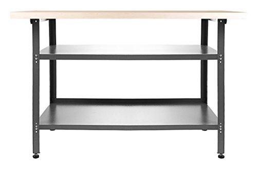 Ondis24 Werkbank Basic Packtisch Werktisch Werkstatteinrichtung 120 x 60 cm Arbeitshöhe 85 cm...