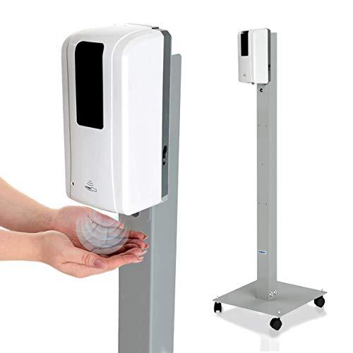 KRIEG Desinfektionsmittelständer mit Sensor I Silber I...