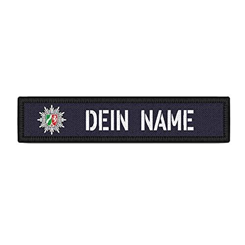 Copytec Patch Namens-Schild Polizei NRW Klett Streifen...