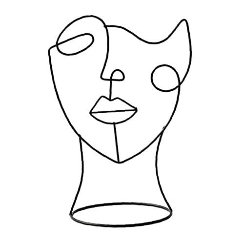 NIDONE Abstrakt Gesicht, Skulptur, Modern, Metall, Charakter...