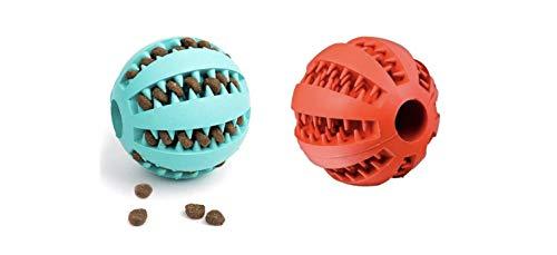 Hundeball ║ Zahnpflege-Funktion ║ Robuster Kauball ║ 2er...