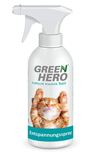 Green Hero Entspannungsspray für Katzen enthält beruhigende...