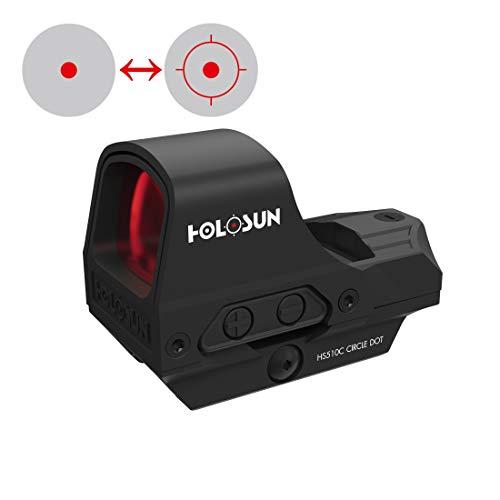 Holosun HS510C Offenes Reflex Rotpunktvisier, wechselbares 2MOA...