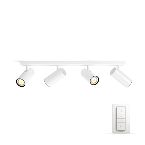 Philips 5046431P7 A, Hue LED Spot Buratto 4-flammig, 1000 lm,...