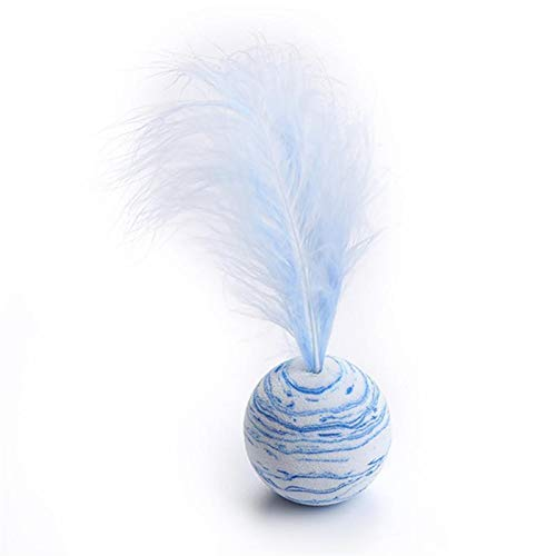 QWEQWE Katze Spielzeug Stern Ball Plus Feder Eva Material licht...