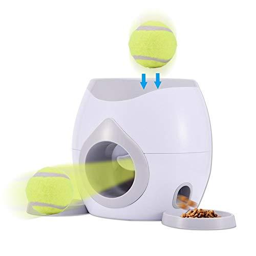 Dog Feeder, Dog Ball Toy - Interaktive Tennisball-Wurfmaschine...