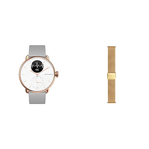 Withings Scanwatch Roségold/weiß 38 mm +1 Silikonarmband...