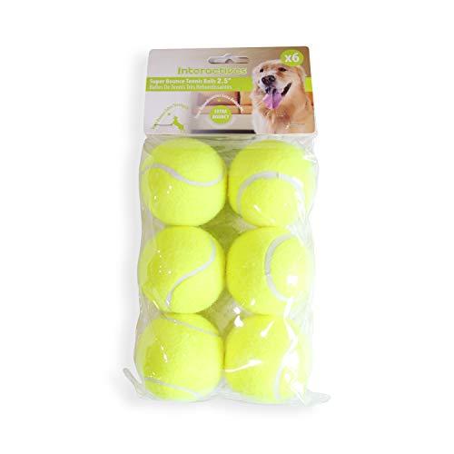 Pet Prime Hunde-Tennisball, 6,3 cm x 6 Stück, automatischer...