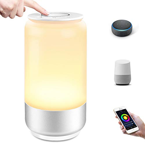 Lepro Nachttischlampe Touch Dimmbar Smart, LED Tischlampe WiFi...
