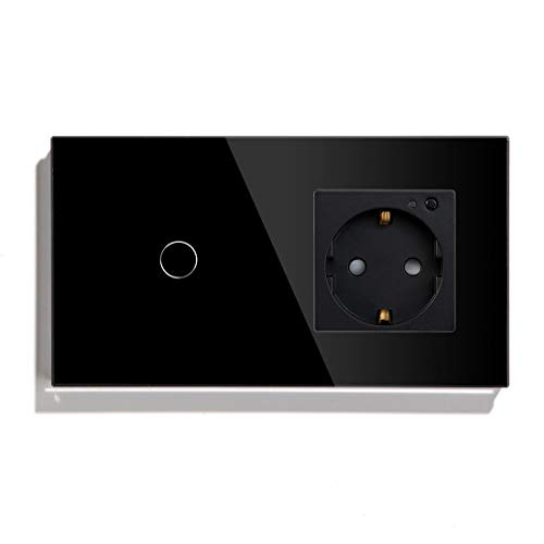 BSEED WiFi Smart Alexa Lichtschalter mit Steckdose, Kompatibel...