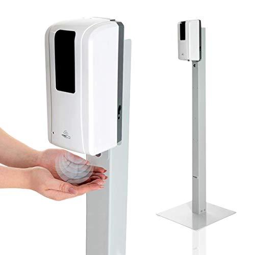 KRIEG Desinfektionssäule mit Sensor I Grau I Kontaklose...