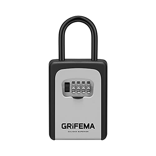 GRIFEMA Schlüsseltresor mit Bügel Wetterfest - Schlüsselsafe 4...