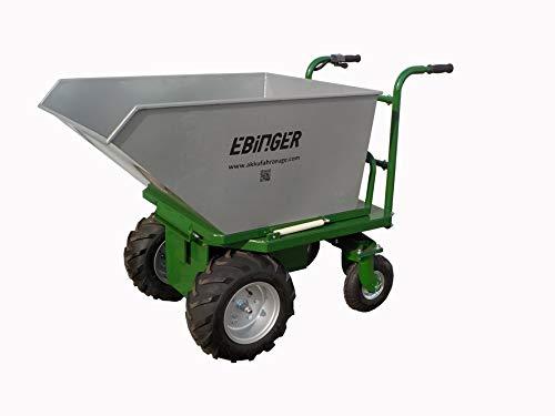 Elektroschubkarre 350kg Traglast bis 40% Steigung 280l Wanne mit...