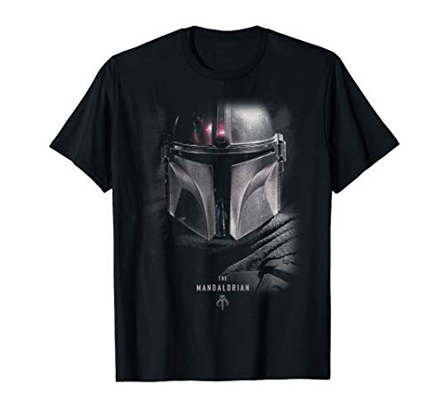 Star Wars The Mandalorian Big Face Poster T-Shirt