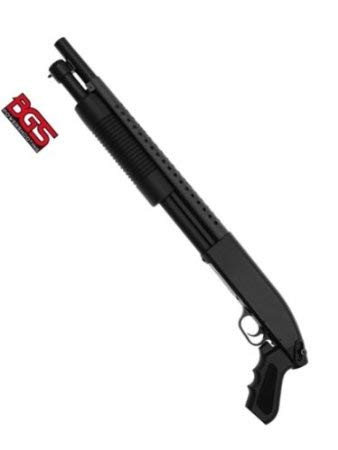 Nick and Ben Softair Pumpgun M58B Waffe Softair-Gewehr ca. 1,4kg schwarz Speedloader unter 0,5...