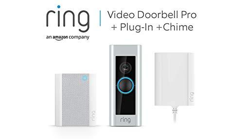 Ring Video Doorbell Pro mit Netzteil und Ring Chime von Amazon,...