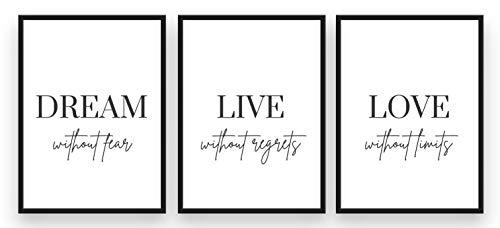 Freyheit | Premium Poster Set | stilvolles 3er-Set für...