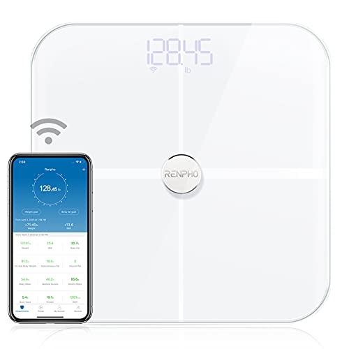 RENPHO WLAN-Smart-Waage mit Körperfettwaage, Bluetooth...