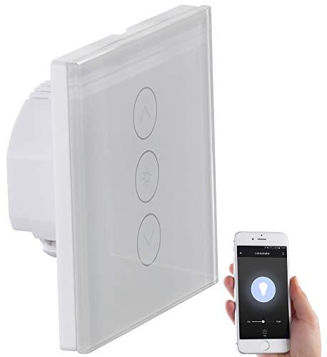 Luminea Home Control WLAN Dimmer Unterputz: Touch-Lichtschalter &...