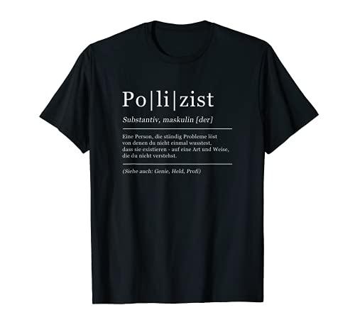 Herren Polizist Lustige Bedeutung Humor Polizei T-Shirt