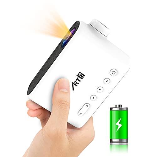 Mini Beamer Akku - Artlii Q Mini Projektor Batterie Draussen Für...