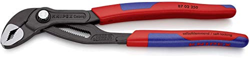 KNIPEX 87 02 250 SB Cobra® Hightech-Wasserpumpenzange grau...