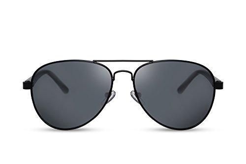 Cheapass Sonnenbrille Schwarz Flieger-Brille Pilot Polizei...