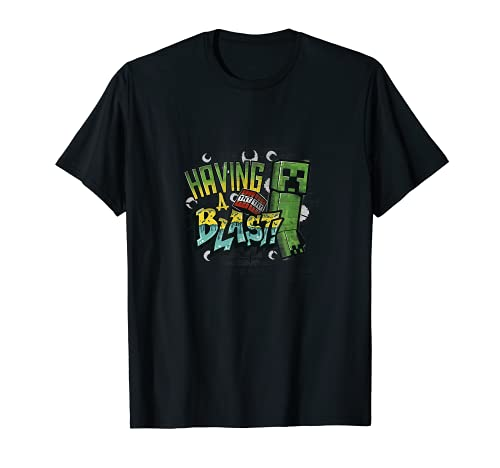 Minecraft Creeper TNT Having A Blast! Color Gradient T-Shirt