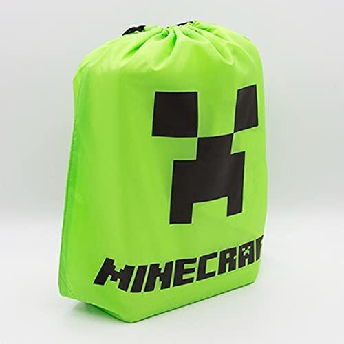 SZSBLT Minecraft Kordelzug Rucksack Creeper Muster, TNT Muster,...