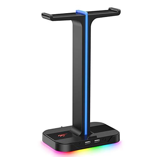 Havit Headset Ständer RGB Dual Balance mit 2 USB-Anschlüssen,...