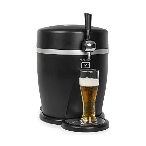 Klarstein Tap2Go mobile 2-in-1 Bierzapfanlage mit Getränkekühler, für 5l Fässer,...