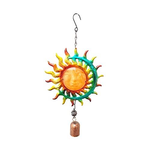 xldiannaojyb 3D Hang Metal Sun Face Bell Wind Glocke Handgemalte...