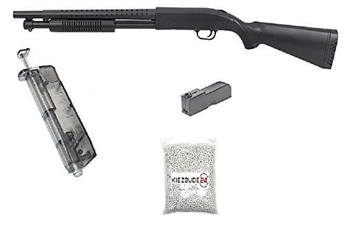 KS-11 Klassische Airsoft Schrotflinte, schwarz - Länge 920mm- Kaliber 6mm -
