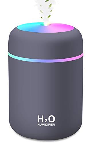 Mini Luftbefeuchter, 300ml Wassertank mit USB, Ultra Leise...