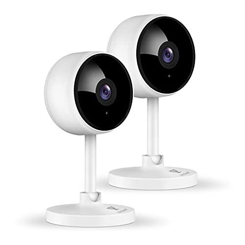 1080P Überwachungskamera, Littlelf 2 Stück Hunde Kamera, WLAN...