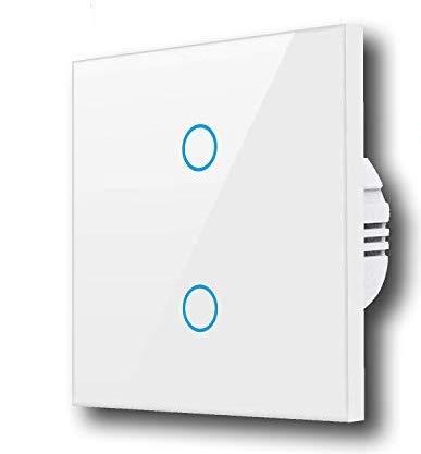 Alexa Smart Lichtschalter, GoKlug Glas Touchscreen-Schalter, WLAN...